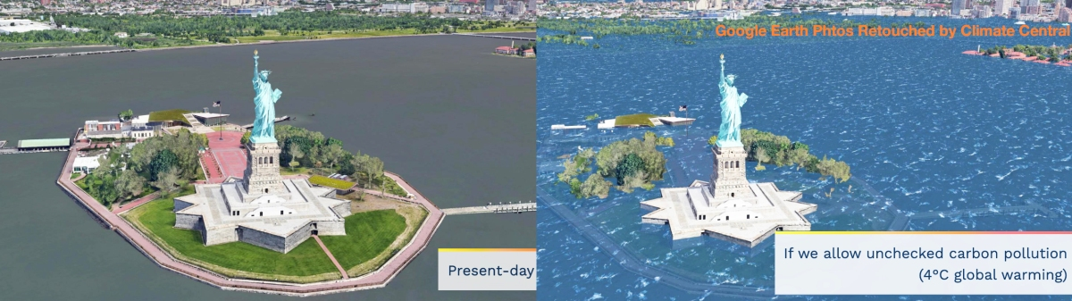 What will Coastal Cities Look Like if We Don't Curtail Greenhouse Gas Emissions? Take aLook: